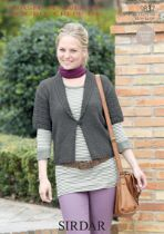 Sirdar Wash 'n Wear Double Crepe - 9837 Jacket Knitting Pattern